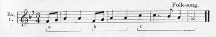 Example 1.  Fragment of Folk-song.