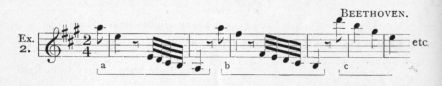 Example 2.  Fragment of Beethoven.