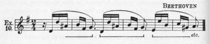Example 10.  Fragment of Beethoven.