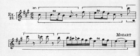 Example 12.  Fragment of Mozart.