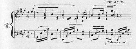 Example 18.  Fragment of Schumann.