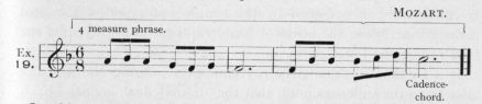 Example 19.  Fragment of Mozart.