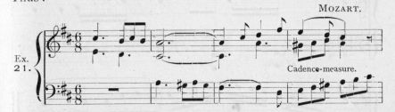 Example 21.  Fragment of Mozart.