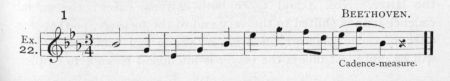 Example 22.  Fragment of Beethoven.