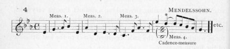 Example 23 continued.  Fragment of Mendelssohn.