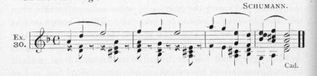 Example 30.  Fragment of Schumann.