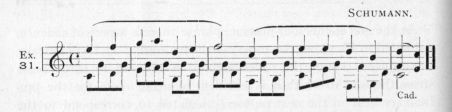 Example 31.  Fragment of Schumann.