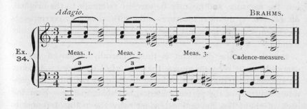 Example 34.  Fragment of Brahms.