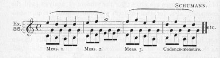 Example 35.  Fragment of Schumann.