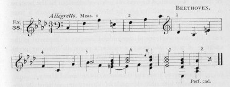 Example 38.  Fragment of Beethoven.