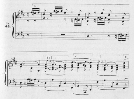 Example 43.  Fragment of Beethoven.