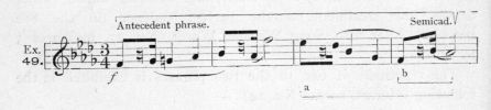 Example 49.  Fragment of Chopin.