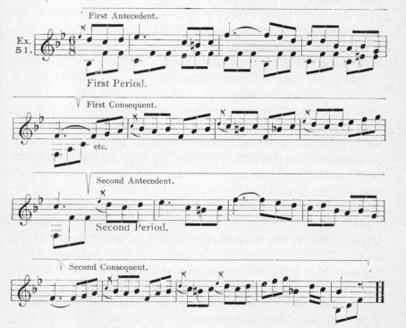 Example 51.  Fragment of Beethoven.